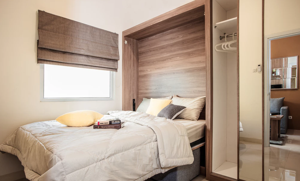 Cara Mendekorasi R Tidur Yang Sempit Dengan Mudah Adalah Memanfaatkan Fungsi Jendela Agar Cahaya Bisa Masuk Ke Ruangan