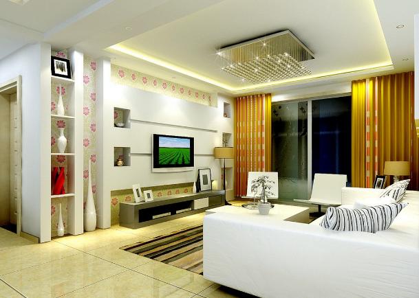 Inspirasi Desain Plafon Gysum Ruang Tamu Yang Cantik Dan